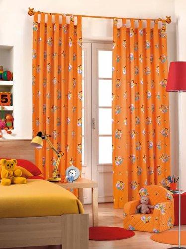 Originale Disney Winnie The Pooh Pooh & tigre 1 StXXL finito sciarpa ad occhielli/Tendina/Tenda L 290cm x L 140cm arancione nuovo Cotone