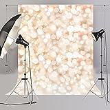 Fondo Bokeh para estudio de fotografía, blanco con luz de estrellas, para recién nacido, Fondos D4058, 150 x 220cm