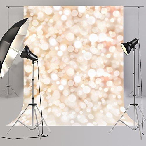 HUA En 150*220cm Bokeh rund Fotografie Hintergrund weiß Starlight Twinkle für Neugeborene Hintergründen Licht Farbe Glitter Baby Dusche Hintergrund D-4058