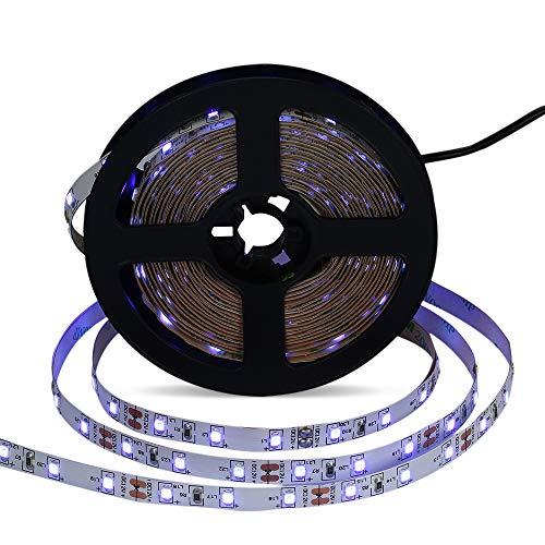 Festnight 5m / 16.4ft LED UV Blacklight Streifen Licht 300-Units LED Perlen Seil Lampe für Fluoreszierende Dance Party UV Kunst Ausstellung Bühnenbeleuchtung Wohnkultur AC100~240V