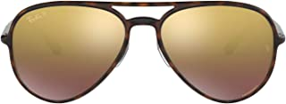 Ray-Ban RB4320CH Chromance Mirrored Aviator Sunglasses