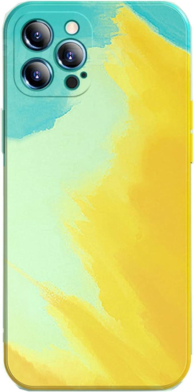 LRJBFC Luxury Watercolor Matte Soft Square Phone Silicone f 35% OFF Case Brand new