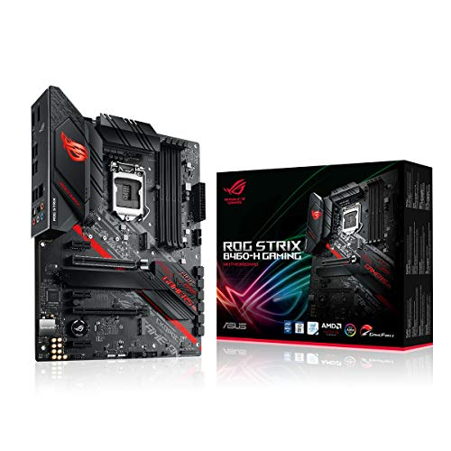 ASUS ROG STRIX B460-H GAMING Mainboard Sockel 1200 (ATX, AI Networking, Intel 1Gbit/s-Ethernet, zwei M.2, USB 3.2 Gen 2x2, SATA, AURA-Sync)