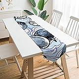 Camino de mesa de 177,8 x 33 cm, diseño de nubes de arándanos de flores silvestres, decoración de mesa para bodas, mesa de mesa, decoraciones al aire libre picnics mesa de comedor
