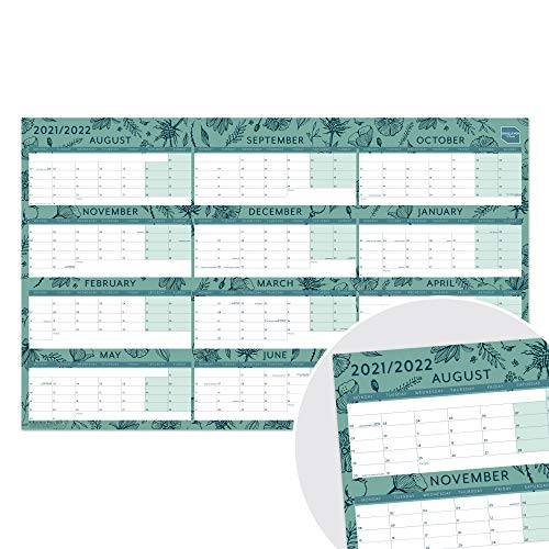 (en inglés) Planificador Mensual de Boxclever Press (Formato en Bloques). Calendario de Ago'21 a Juli'22. Calendario 2021 2022 para Planificar Trabajo o el Hogar. Calendario Pared Sin Laminar 70x43 cm