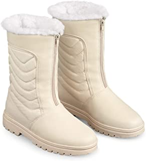 Zip Front Winter Snow Boot with Ice Grips