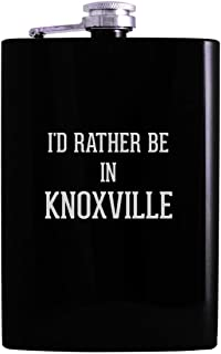 I'd Rather Be In KNOXVILLE - 8oz Hip Alcohol Drinking Flask, Black