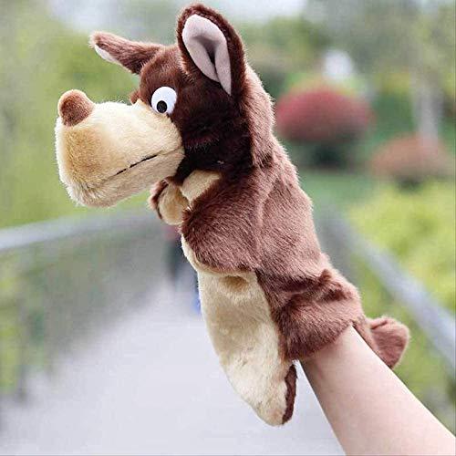 Uymkjv Juguete Creativo para niño y niña Lobo Gris Grande y Divertido Juguete Creativo de 25 cm marrón