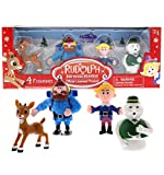 Rudolph the Red Nosed Reindeer Christmas Figurines –...