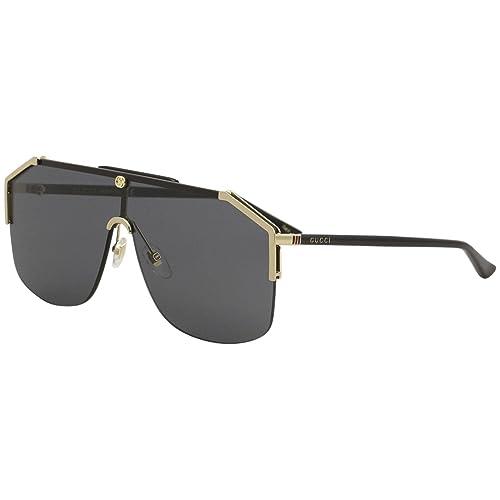 6d54e63c945 Gucci GG0291S Mens Metal Shield Sunglasses