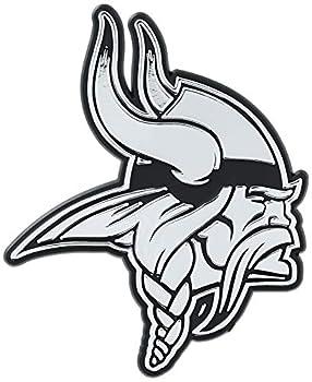 NFL Minnesota Vikings Chrome Finished Auto Emblem 3D Sticker