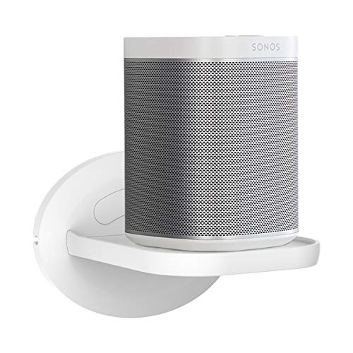 SPORTLINK Estante de Montaje en Pared Soporte para Sonos Play 1, Sonos One, Sonos One Generación 2, Ocultar los Cordones-A Debe Tener Montaje en Pared para Sonos (1 Pack)