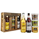 Mr Tubs Premium Double Hand Cooked Pork Crackling Gift Set - with Hobsons Old Henry Real Ale & Twisted Spire Blonde Beer (2 x