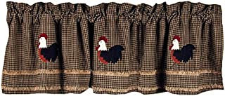 Home Collection by Raghu Rise and Shine Rooster Oat Valance, 72 by 15.5