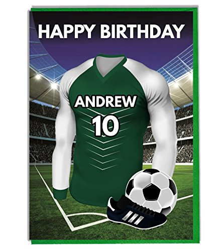 Personalised Football Themed Birthday Card for - Dad - Husband - Son - Daughter - Mum - Plymouth Argyle Colours