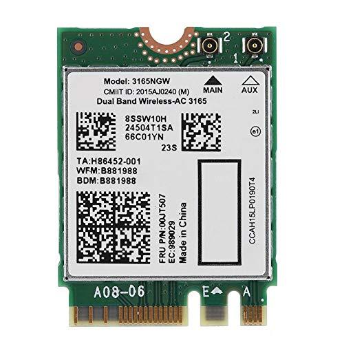 Bewinner Bluetooth4.2 802.11AC-netwerkkaart voor Lenovo Intel 3165NGW AC-netwerkkaart Dual Frequency 433M Goede prestaties voor onderdrukking van storingen - signaaloverdracht Stabiel en effectief