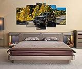 Yuanjun Cuadros Modulares De Las Ilustraciones De La Pared De La Pintura De La Lona Para La Sala De Estar 5 Panel/Set Impreso En La Pared 150X80Cm Jeep Wrangler Suv