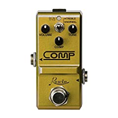 Based on classic studio grade compressors Produce a smooth, sustained sound foe clean tones or soaring leads 2 modes, with the Treble mode emphasizing the highs for a sharper sound Super mini size, can fits in your palms Made of aluminum alloy, conve...
