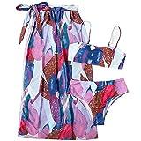 Misis 3 Piezas Mujeres Traje De Baño Sexy Bikini Set Push Up Traje De Baño De Dos Piezas Bikini Pants Triángulo Bandeau Top Acolchado para Verano Playa Vacaciones Piscina Luna De Miel Crucero wondeful