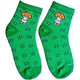 Die Geschenkewelt 45606 Zauber-Socken, mit sheepworld Schaf, Glückspilz Geschenk-Artikel, 80prozent Baumwolle, 15prozent Nylon, 5prozent Elastan, Grün, Größe 41-46
