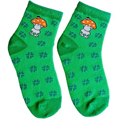Die Geschenkewelt 45606 Zauber-Socken, mit sheepworld Schaf, Glückspilz Geschenk-Artikel, 80% Baumwolle, 15% Nylon, 5% Elastan, Grün, Größe 41-46