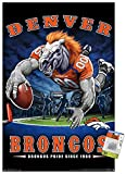 Trends International NFL Denver Broncos - End Zone 17 Wall Poster with Push Pins,'22.375'' x 34'''