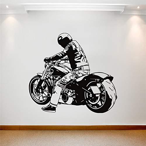 Harley Locomotora pesada todoterreno Motocicleta Art Calcomanía Racing Sport Bike Cool Player Racer Vinilo Adhesivo de pared Mural Niños niño dormitorio Diseño Decoración del hogar