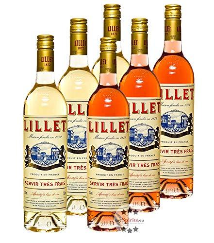 Lillet 6er Mischpaket je 3 x Lillet Blanc & Rosé / 17% Vol. / 6 x 0,75 Liter-Flasche