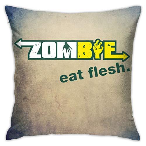 Grance-Ra Subway Zombies Eat Flesh Velvet Pillowcase