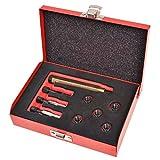 UnfadeMemory Kit de Herramientas de Reparación Rosca Bujía Incandescente M8x1,0mm,9 pzas,Herramientas Profesionales