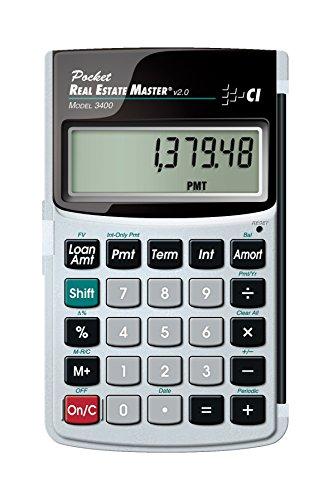 Calculated Industries Real Estate Master, calcolatrici, tasca, batteria-Calcolatrice finanziaria, colore: nero, Argento, pulsanti, CR1620)