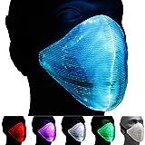 Ucult Wiederaufladbare LED-Glasfaser-Maske Gadget für Festival & Party