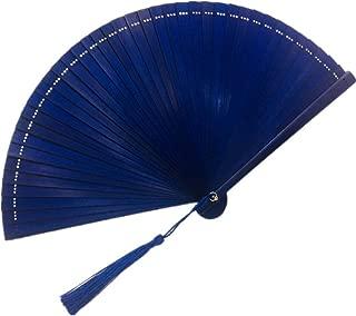 Yowinlo Faltfächer Hand Fächer 16Cm5 Zoll Mini Einfarbig Chinesischen Stil Bambus Fan Hohl Alten Damen Falten Fan Handwerk Fan Geschenk Fan