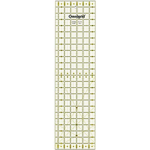 "Omnigrid R6524 Omni Grid Ruler 6.5X24In, 6-½"" x 24"", Multicolor"