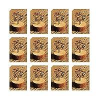 12個入り 木製 スター メモホルダースタンド カード 写真メモ クラフト座席カード バルク ウェディングパーティー テーブル番号ネームサイン