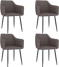 vidaXL Krzesło do jadalni, kuchni, krzesło tapicerowane, zestaw krzeseł do salonu, jadalni, kolor taupe, metal