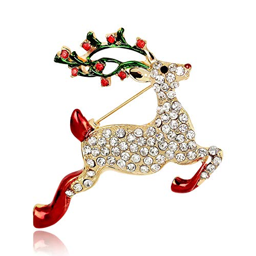 BiBeary Rentier Broschen für Damen Weihnachten Zirkonia Neujahr Damenmode Dekoration Geschenke Party Fashion Giraffe Tier