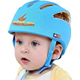 Huifen Baby Children Infant Toddler Adjustable Safety Helmet Headguard Protective Harnesses Cap Blue, Providing Safer Environment When Learning to Crawl Walk Playing Baby Infant Blue Hat (Blue)