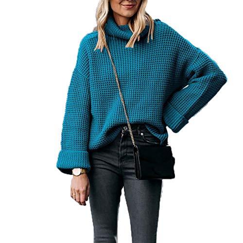 YZANYFQH Herbst/Winter Frauen Einfarbig Rollkragenpullover Plus Size Sweater Frauen