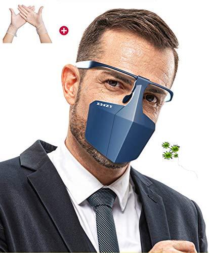 EDSZY Safety Gesichtsschutzschirm, Anti-Fog Anti-Öl Splash klar,Schutzmaske Gesichtsschutz Visier, Augenschutz, Gesichtsschutz Spritzwassergeschützte,Blau