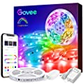 LED Strip Lights Bluetooth RGBIC, Govee 16.4FT Color Changing Rainbow LED Lights, APP Control with Segmented Control Smart Color Picking, Multicolor LED Music Lights for Bedroom, Room, Kitchen, Party