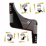 La barbe Styling Modèle - pochoir pour les hommes - léger et flexible - taille unique - coupe courbe; l'étape couper; l'encolure & Barbe Bouc Outils de forme dans le style Barbe- Brown