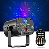 Disco Lights RGB LED 2 in 1 Stage Beam Lights Sound Activated DJ Party Lights with Strobe Flash Effects, Timing LED Stage Light Projector with Remote Control for Home Birthday Dance Party