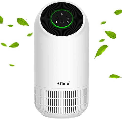 Afloia Air Purifier,Portable Air Purifier for Home, Air Cleaner with True HEPA Filters, 3 Fan Speed Whisper Quiet Air...
