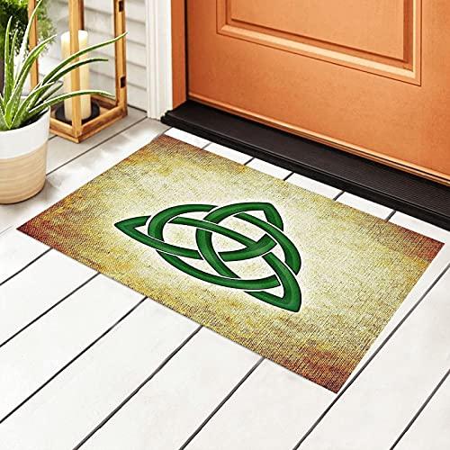 Celtic Trinity Knot Welcome Door Mat Indoor&Outdoor Front Door Entrance Rug Patio Entryway Pad Floor Mats Non Slip Carpet PVC Backing Doormats