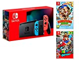 Nintendo Switch rojo/azul neón 32GB Pack + Super Mario Odyssey + Donkey Kong: Tropical Freeze