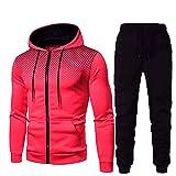 N\P Traje deportivo para hombre con sudadera con capucha y pantalones deportivos para hombre de manga larga