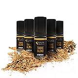 Vaps'Premium - E-líquido Tabaco Rubio - 5 x Viales de 10 ml - 00 mg - Hecho en Francia - Cigarrillo Electrónico de Recarga Líquida - Sin nicotina ni tabaco