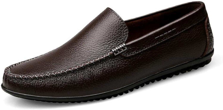EGS-schuhe Herrenschuhe Papa Schuhe Herren atmungsaktive Freizeitschuhe Lederschuhe,Grille Schuhe (Farbe   Braun, Größe   43)