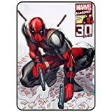 Deadpool Blanket- Officially Licensed 30 Year Anniversary Merchandise from Marvel- Comfy Lightweight Fleece, Throw, 45x60 inches